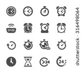 time and clock icon set  vector ... | Shutterstock .eps vector #316498064