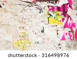 plastered wall with exposed... | Shutterstock . vector #316498976