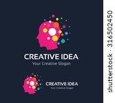 creative idea logo template   Shutterstock .eps vector #316502450
