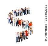 corporate culture very long... | Shutterstock . vector #316503383