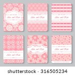 save the date or wedding... | Shutterstock .eps vector #316505234