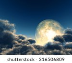 magic moon in the night sky.... | Shutterstock . vector #316506809