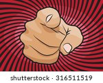 i want you vector hand pointing ... | Shutterstock .eps vector #316511519