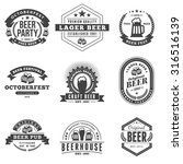 set of retro vintage beer... | Shutterstock .eps vector #316516139
