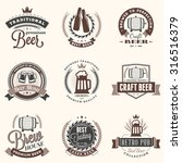 set of retro vintage beer... | Shutterstock .eps vector #316516379