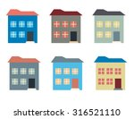 colorful house buildings set... | Shutterstock .eps vector #316521110