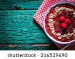 breakfast banana smoothie bowl... | Shutterstock . vector #316529690