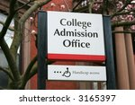 College Admission Office Sign
