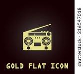 classic 80s boombox. gold flat... | Shutterstock .eps vector #316547018