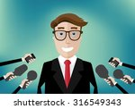 smiling businessman interviewed ...   Shutterstock .eps vector #316549343