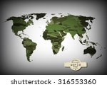 camouflage military world map.... | Shutterstock .eps vector #316553360