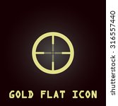 crosshair. gold flat vector...