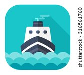 ship icon | Shutterstock .eps vector #316561760