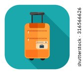 travel luggage icon | Shutterstock .eps vector #316566626