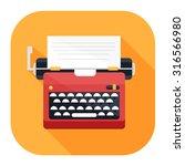 typewriter icon | Shutterstock .eps vector #316566980