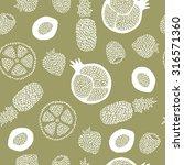 spotty fruit seamless pattern. | Shutterstock .eps vector #316571360