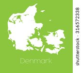 a map of the country of denmark | Shutterstock . vector #316572338