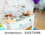 cake  candies  marshmallows ... | Shutterstock . vector #316573988