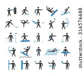 silhouettes figures of athletes ... | Shutterstock .eps vector #316576688