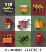 flat vector icon set for...   Shutterstock .eps vector #316578746
