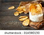 homemade potato chips and spicy ... | Shutterstock . vector #316580150