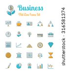 vector business icons set flat... | Shutterstock .eps vector #316581374
