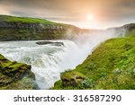 Beautiful Gullfoss Waterfall A...
