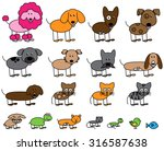 vector collection of cute stick ... | Shutterstock .eps vector #316587638