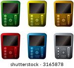 a collection of six different... | Shutterstock .eps vector #3165878