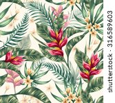 seamless pattern with tropical... | Shutterstock .eps vector #316589603