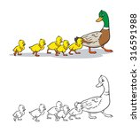 coloring book or page. mother... | Shutterstock .eps vector #316591988