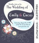 wedding invitation card with...   Shutterstock . vector #316595984