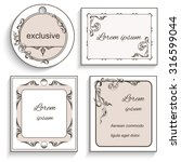 set vintage ornament frame ... | Shutterstock . vector #316599044