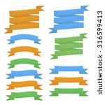 set of detailed colorful ribbons | Shutterstock . vector #316599413