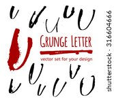 vector calligraphy letter with... | Shutterstock .eps vector #316604666