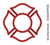 firefighter emblem icon | Shutterstock .eps vector #316604930