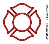 firefighter emblem icon | Shutterstock .eps vector #316604930