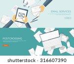 communication chatting.flat... | Shutterstock .eps vector #316607390