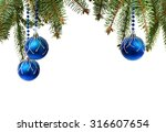 christmas decoration with space ... | Shutterstock . vector #316607654