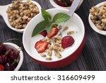 excellent breakfast. breakfast... | Shutterstock . vector #316609499