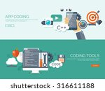 programming and coding... | Shutterstock .eps vector #316611188