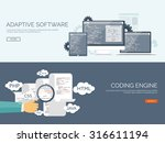 programming and coding... | Shutterstock .eps vector #316611194