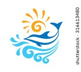 dolphin   creative sign concept ... | Shutterstock .eps vector #316613480