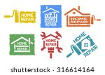 a set of monochrome emblems and ... | Shutterstock .eps vector #316614164