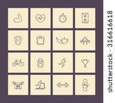 fitness  gym  training line... | Shutterstock .eps vector #316616618