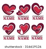 vector collection of heart ...