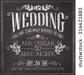 wedding invitation vintage card.... | Shutterstock .eps vector #316621883