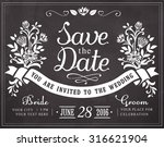 save the date. wedding... | Shutterstock .eps vector #316621904