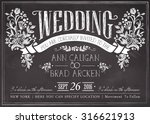 wedding invitation vintage card.... | Shutterstock .eps vector #316621913