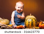 Cute Baby Posing On The...